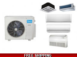 Midea Custom Multi Zone Ductless Heat Pump AC Console Cassette Ducted